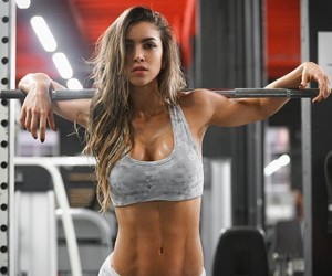 fitness, girl, and gym image