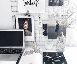magazine, desk, and interior image