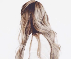 blonde, girl, and long hair image