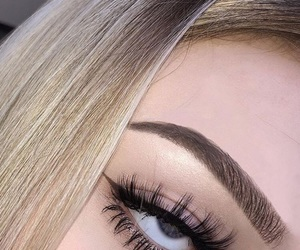 aesthetic, blonde, and eyebrows image