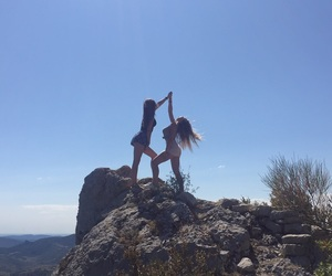 freedom, friend, and mountain image