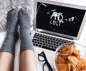 ahs, bed, and cozy image