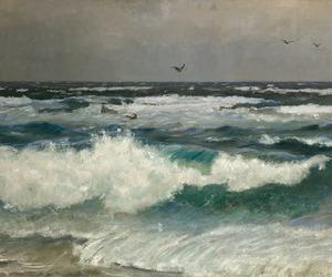 art, beach, and nature image