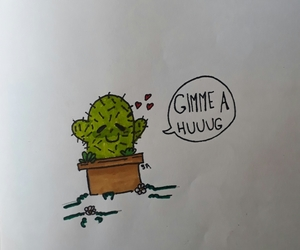 cacto, hugs, and green image