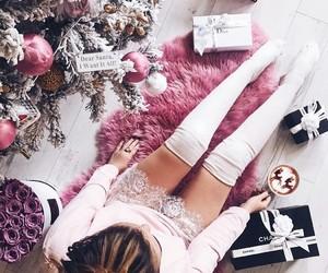 christmas, festive, and girl image