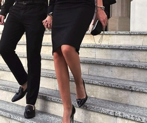couple, black, and heels image
