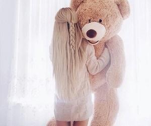 girl, fashion, and bear image