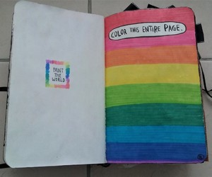 rainbow, wreck this journal, and color this entire page image