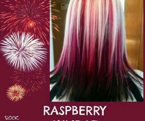 hairstyle, rasberry, and dyedhair image