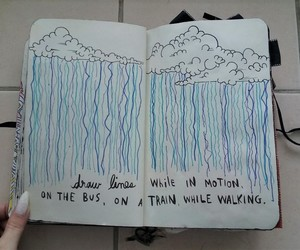clouds, rain, and wreck this journal image