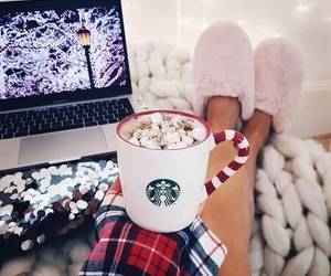 christmas, winter, and starbucks image