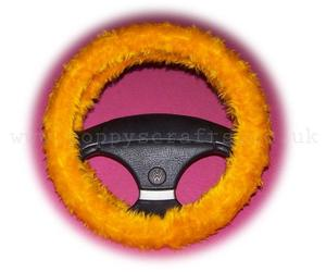 faux fur, marigold, and car accessories image