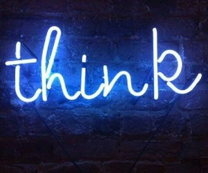 think, blue, and love image