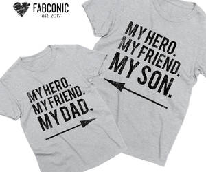 etsy, father and son, and dad son shirts image
