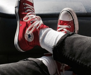 converse, red, and aesthetic image