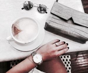 fashion, coffee, and watch image