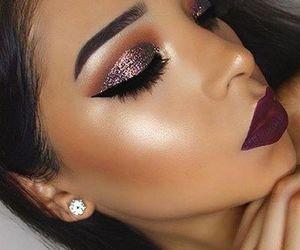 makeup, beauty, and lips image
