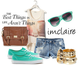 fashion, jeans shorts, and rings image