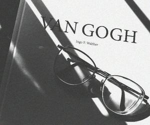 black&white, book, and glasses image