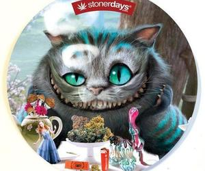 alice in wonderland, Cheshire cat, and weed image