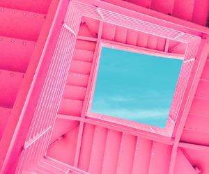 aqua, minimalism, and pink image