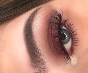 eye makeup, eyebrows, and eyes image