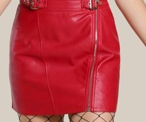 rojo, tubo, and falda image