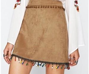 falda, flecos, and shein image