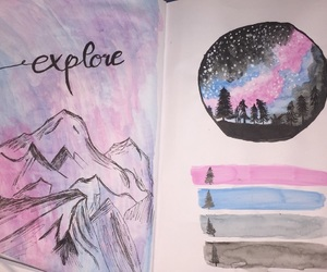 art, drawing, and explore image