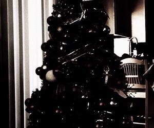 christmas, winter, and dark image