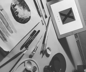 art, black white, and drawing image
