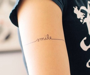 tattoo, smile, and tatto image