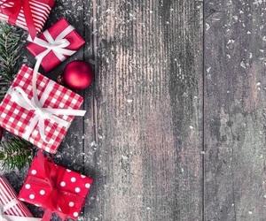 christmas, wallpaper, and gift image