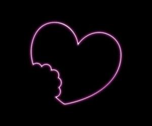 broken heart, glowing, and heart image