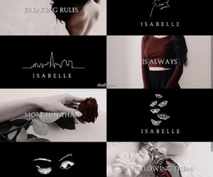 aesthetic, isabelle lightwood, and books image