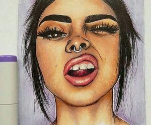 art, tumblr, and drawings image