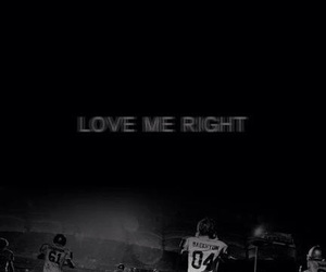 exo, love me right, and kpop image