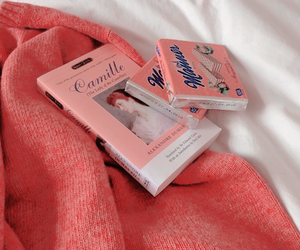 aesthetic, book, and peach image