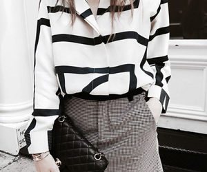 black & white, blouse, and chanel image