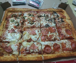 cheese, dinner, and pizzahut image