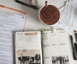 coffee, notes, and pen image