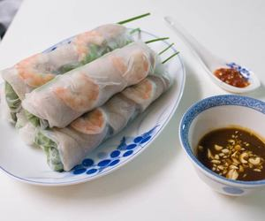 food, Vietnam, and spring rolls image