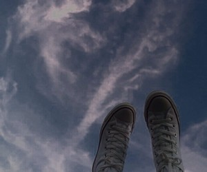 aesthetic, clouds, and converse image