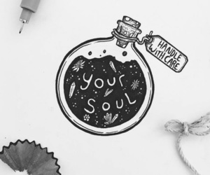 drawing, art, and quotes image