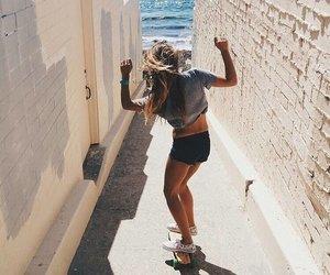 girl, skate, and skater image