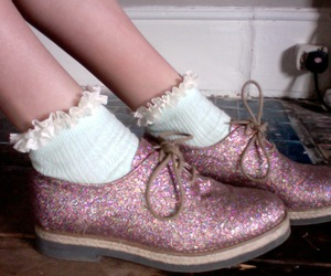 brogues, moda, and sequins image