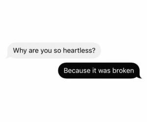 black, broken, and heartless image