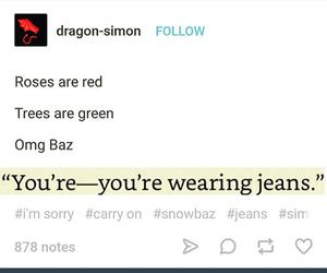 carry on, baz, and simon snow image