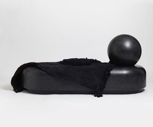 black, daybed, and furniture design image