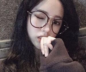 black, girl, and glasses image